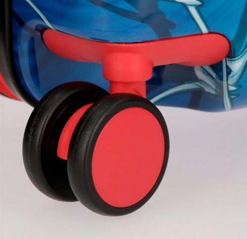 4589861 maleta infantil correpasillos spiderman black ruedas delanteras multidireccionables