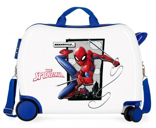4659861 maleta correpasillos spiderman 4 ruedas (2 de ellas multidireccionables)