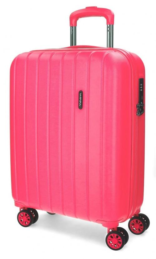 5319168 maleta cabina movom wood fucsia
