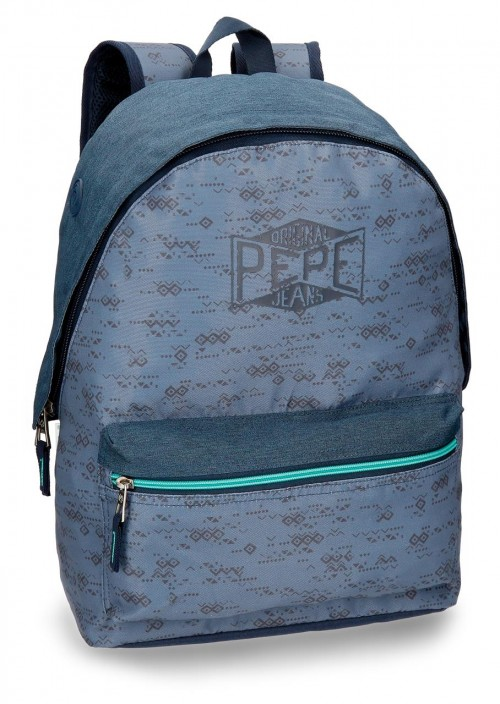 6032361 mochila pepe jeans pierce adaptable a carro con bolsillo frontal