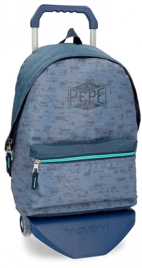 60323N1 mochila con carro pepe jeans pierce