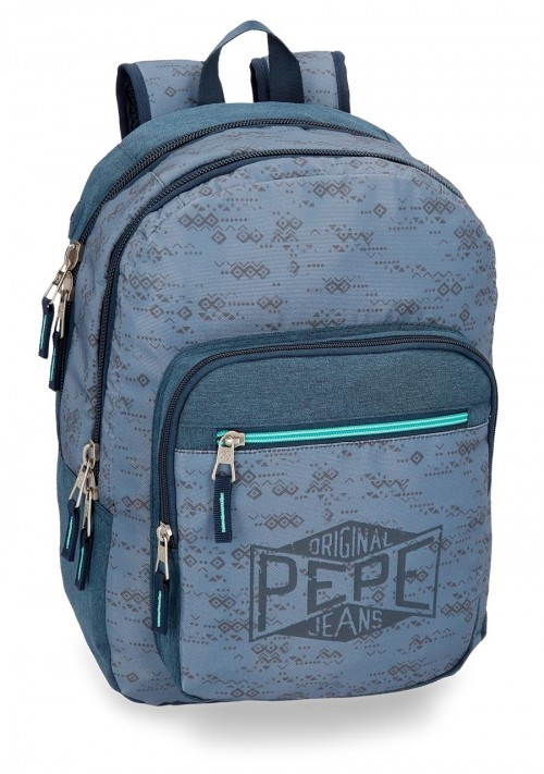 6032461 mochila pepe jeans pierce doble compartimento adaptable a carro