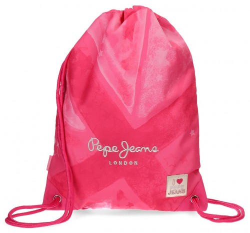 6063761 gym sac con bolsillo trasero pepe jeans clea