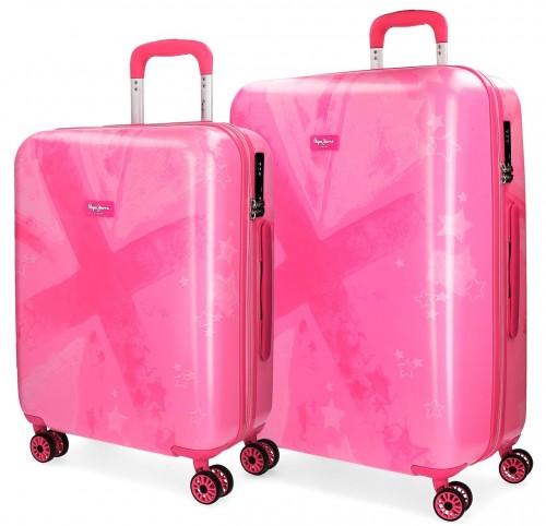 6068961 Juego maletas cabina y mediana jeans clea