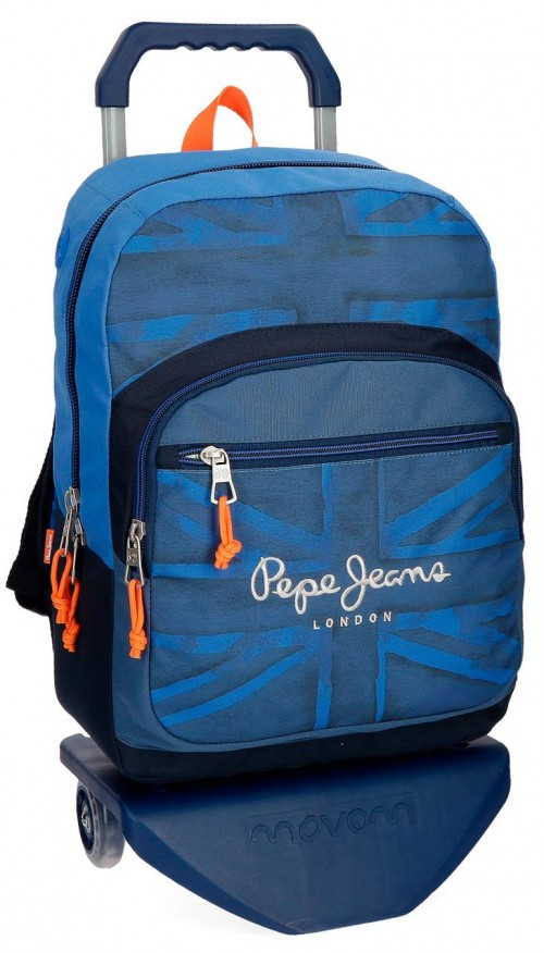 60923N1 mochila pepe jeans fabio con carro