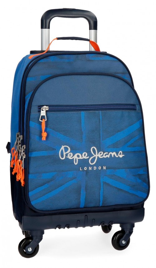 6092861 mochila grande de 4 ruedas pepe jeans fabio