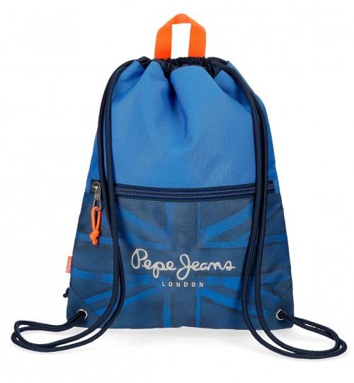 6093761 gym sac con cremallera frontal pepe jeans fabio