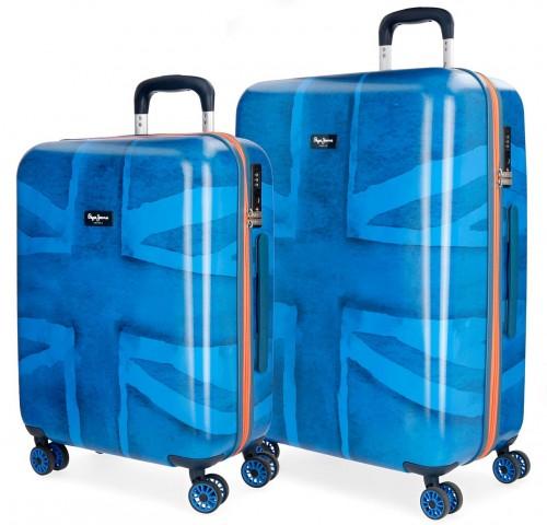 6098961 juego maletas cabina y mediana pepe jeans fabio