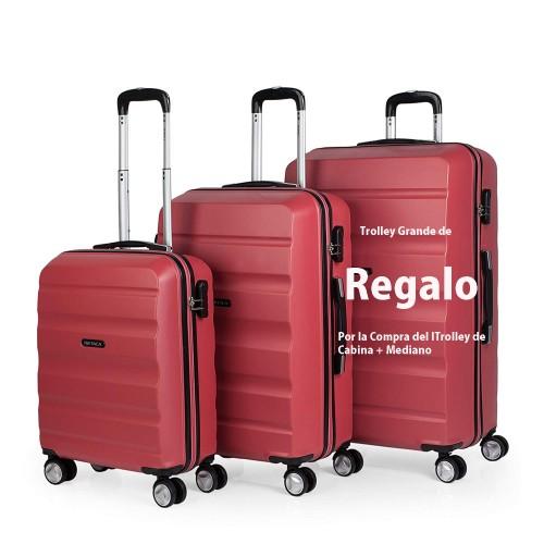 7160002 maleta de cabina + mediana + (grande de regalo)