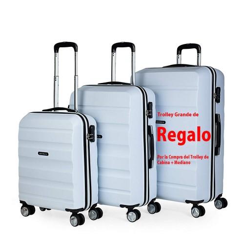 7160003  maleta de cabina + mediana + (grande de regalo)