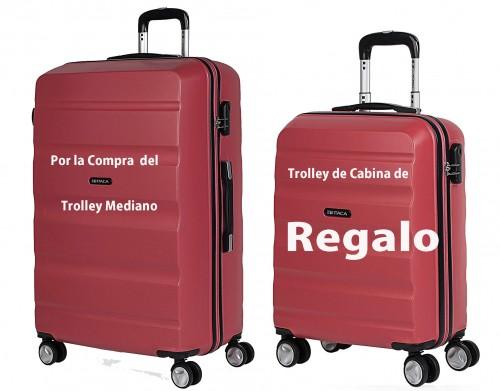 7166002 maleta mediana + (maleta de cabina de regalo)