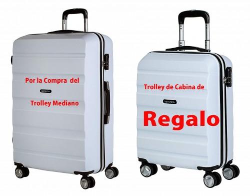 71660 03  maleta mediana + (maleta de cabina de regalo)