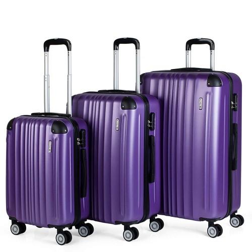 77100001 juego maletas cabina mediana y grande itaca morado