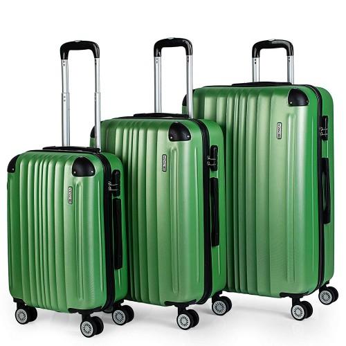 77100002 juego maletas cabina mediana y grande itaca verde