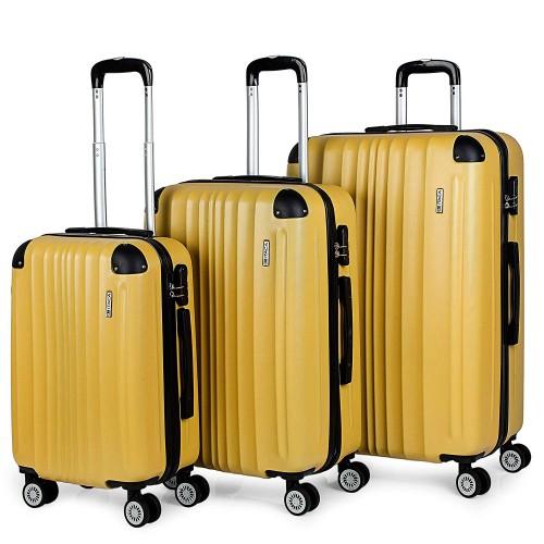 77100003 juego maletas cabina mediana y grande itca mostaza