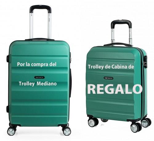 T71660 04 Trolley Mediano aguamarina + trolley cabina de regalo