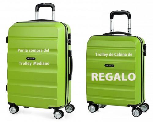 T71660 05 Trolley Mediano pistacho + trolley de cabina de regalo