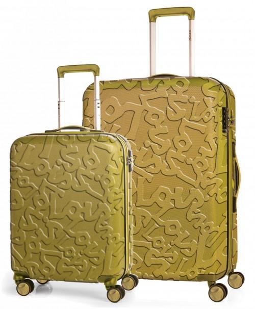 17111503 juego maletas cabina + mediana lois zion mostaza