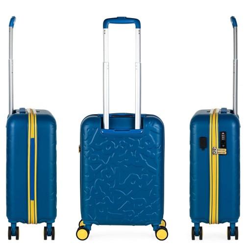 17115001 maleta de cabina en abs lois zion azul vista trasera y lateral
