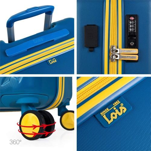 17115001 maleta de cabina en abs lois zion azul detalles