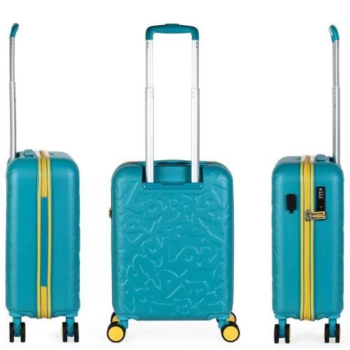 17115002 maleta de cabina en abs lois zion aguamarina vista trasera y lateral