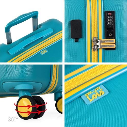 17115002 maleta de cabina en abs lois zion aguamarina detalles