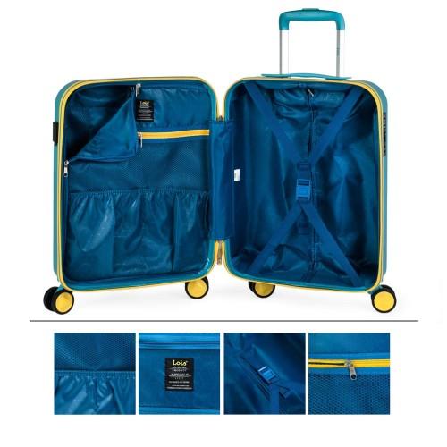17115001 maleta de cabina en abs lois zion azul  interior