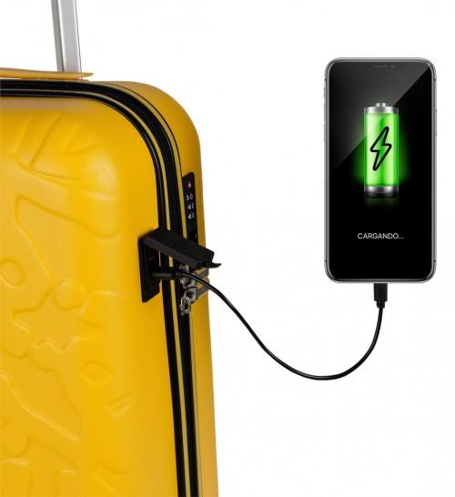 17115003 maleta de cabina en abs lois zion mostaza   puerto usb para la carga de dispositivos móviles