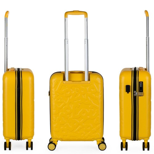 17115003 maleta de cabina en abs lois zion mostaza trasera y lateral