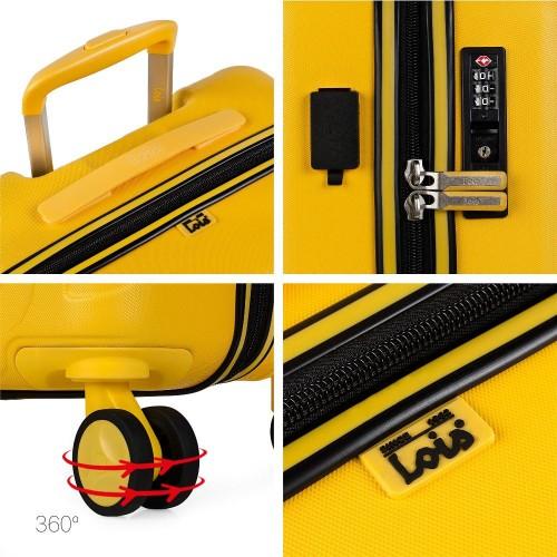 17115003 maleta de cabina en abs lois zion mostaza detalles