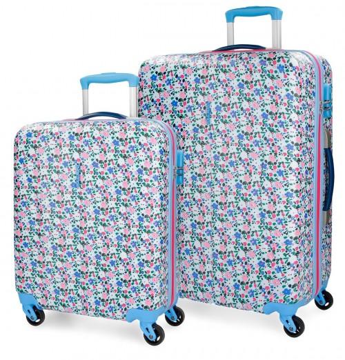 4269561 juego maletas cabina y mediana roll road pretty blue