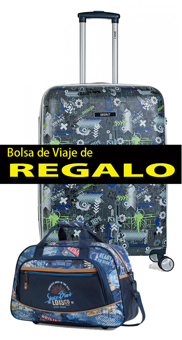 53860 maleta mediana skapa t extreme 4 ruedas y bolsa de viaje de regalo