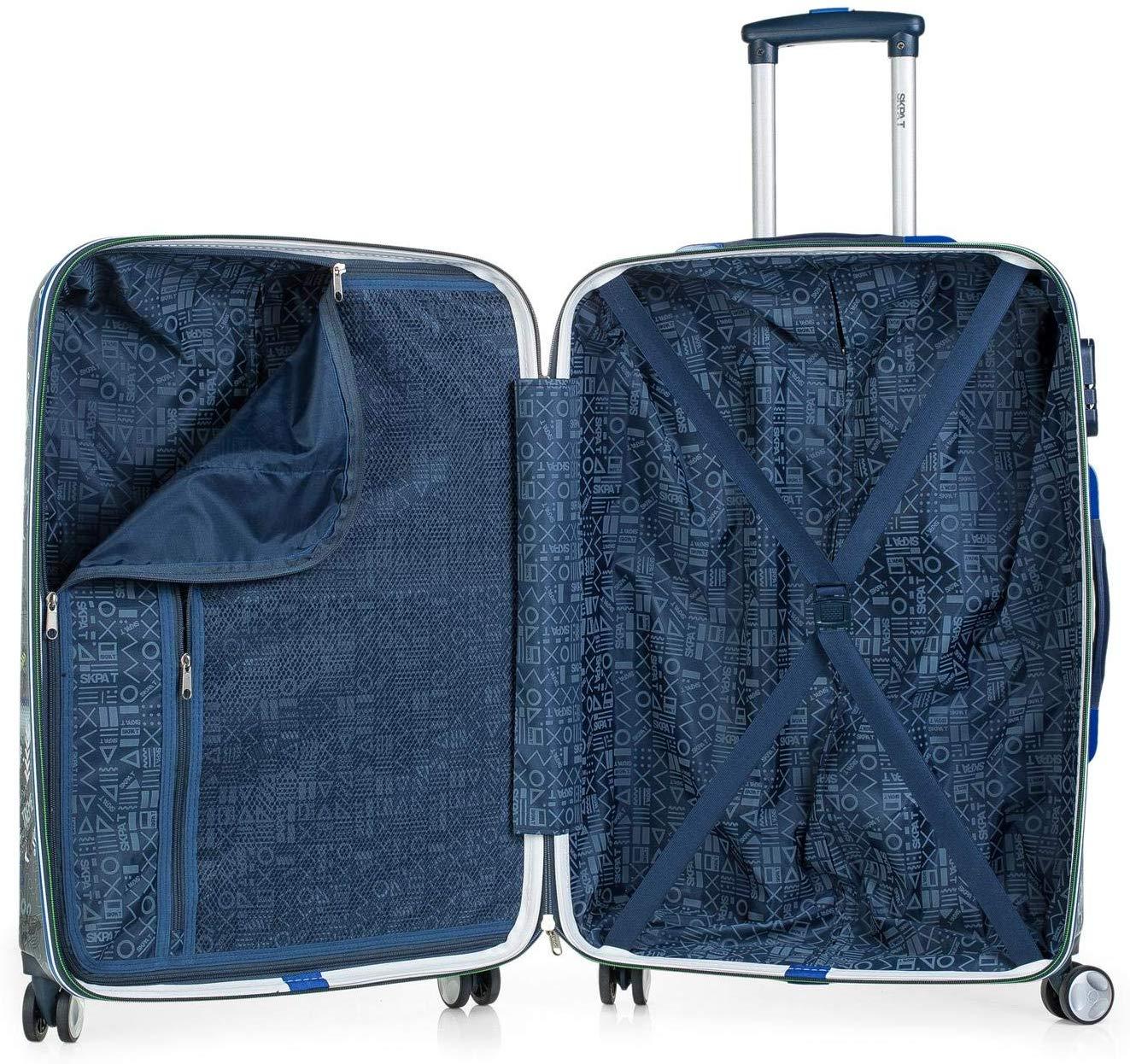 53860 maleta mediana skapa t extreme 4 ruedas interior