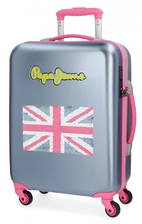 5399166 maleta cabina pepe jeans bristol + bandera  Gris