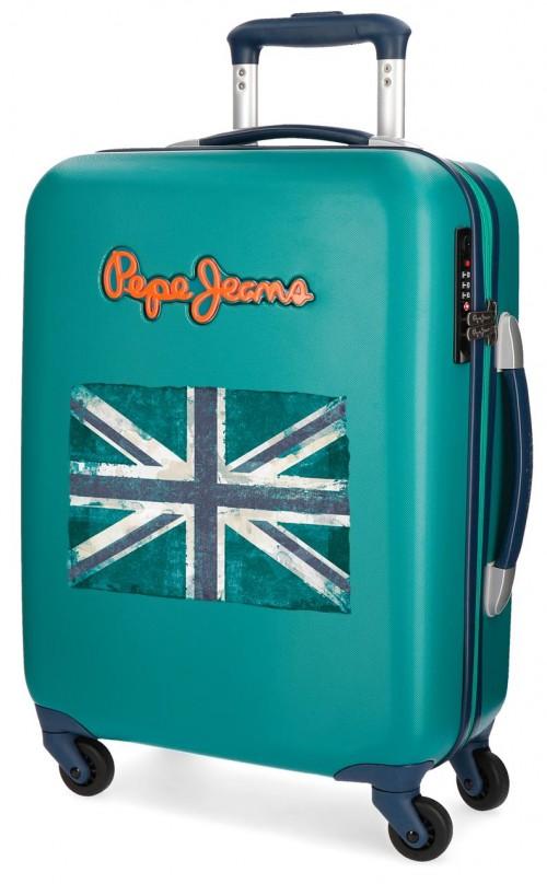 5399168 maleta cabina pepe jeans bristol + bandera verde
