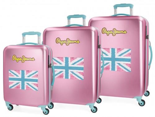 5399467  juego maletas pepe jeans bristol  bandera rosa