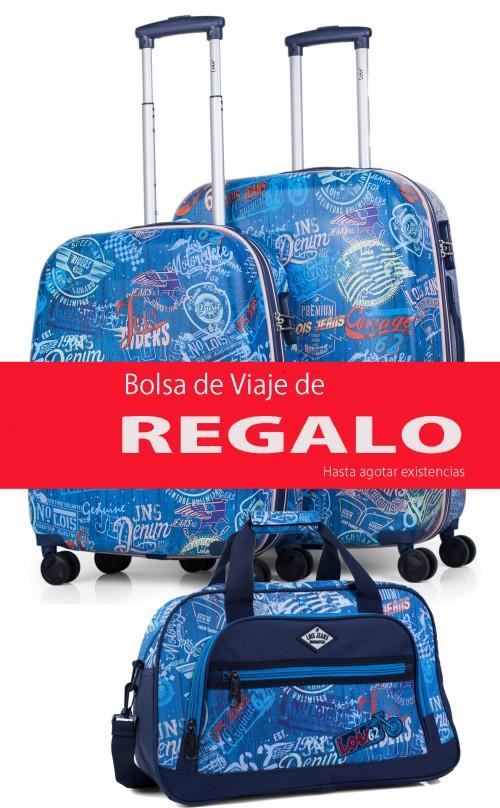 54200 Juego maleta cabina y mediana + bolsa de viaje de regalo Lois colección Amsterdam