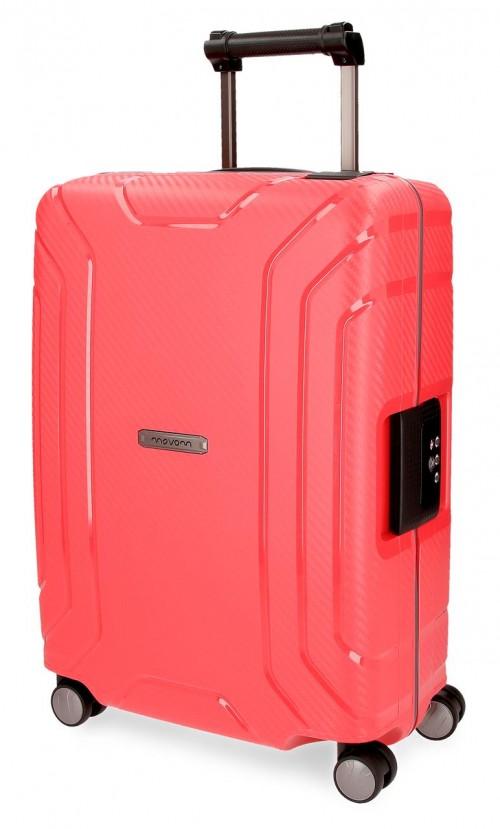 5629163 maleta cabina movom newport  polipropileno rojo