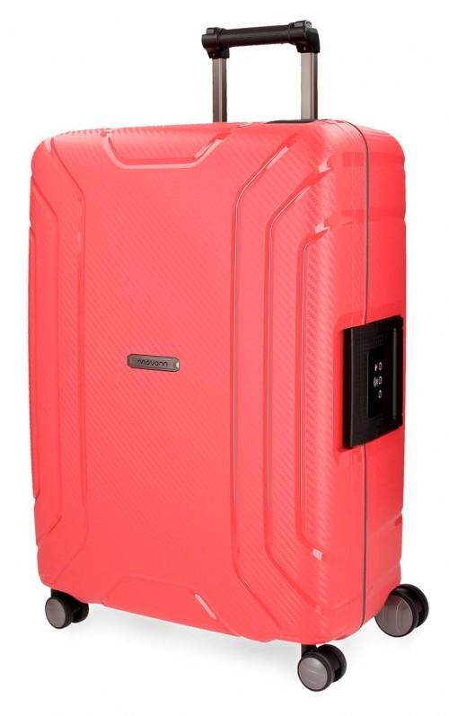 5629363 maleta  grande movom newport roja polipropileno