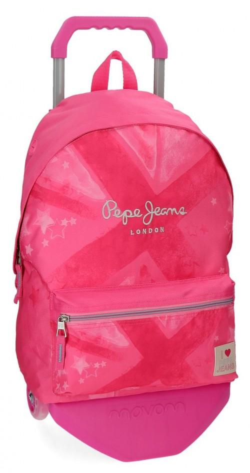60623N1 mochila 42 cm con carro pepe jeans clea
