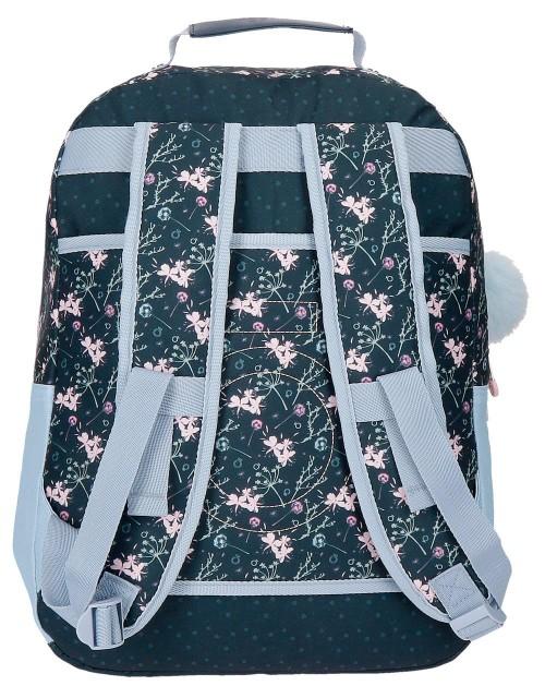 9112361 mochila 42 cm adaptable  enso love & lucky trasera
