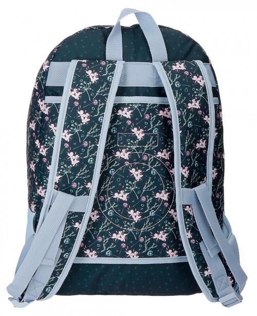 9112461 mochila 44 cm doble, adaptable, enso love & lucky trasera adaptable