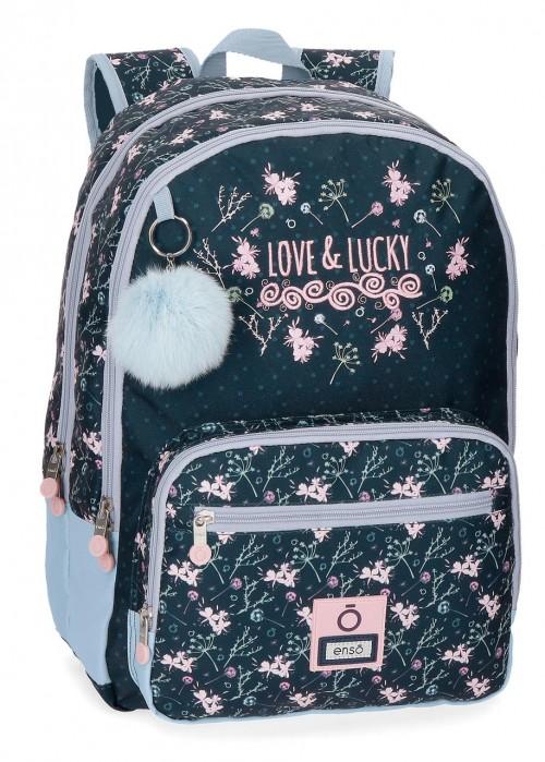 9112461 mochila 44 cm ,doble, adaptable, enso love & lucky