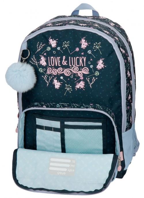 9112461 mochila 44 cm doble, adaptable, enso love & lucky, detalle