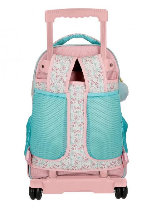 9132961 mochila compacta reforzada enso secret garden trasera tirantes recogidos