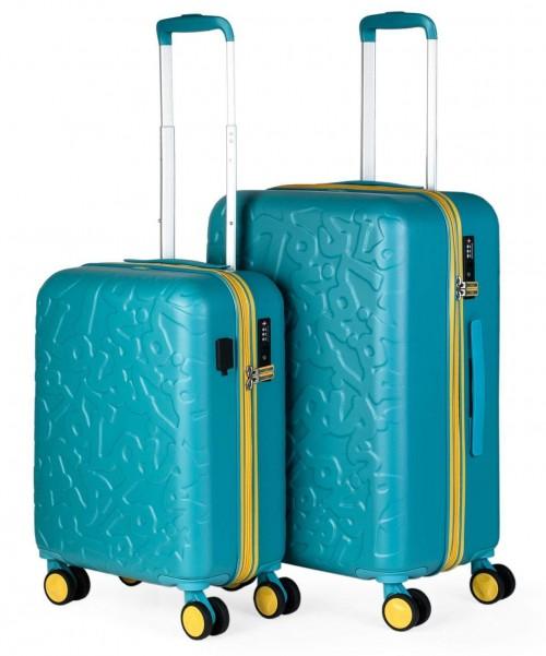 171115002 juego maletas cabina + mediana lois zion aguamarina