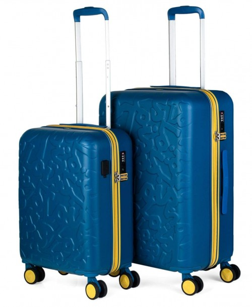 17111501 juego maletas cabina + mediana lois zion azul