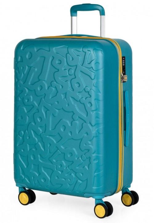 17116002 maleta mediana en abs de lois zion aguamarina