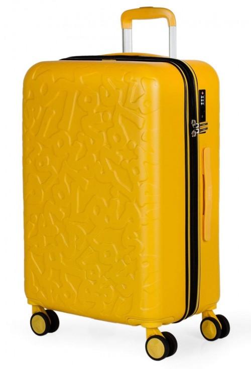 17116003 maleta mediana en abs lois zion mostaza