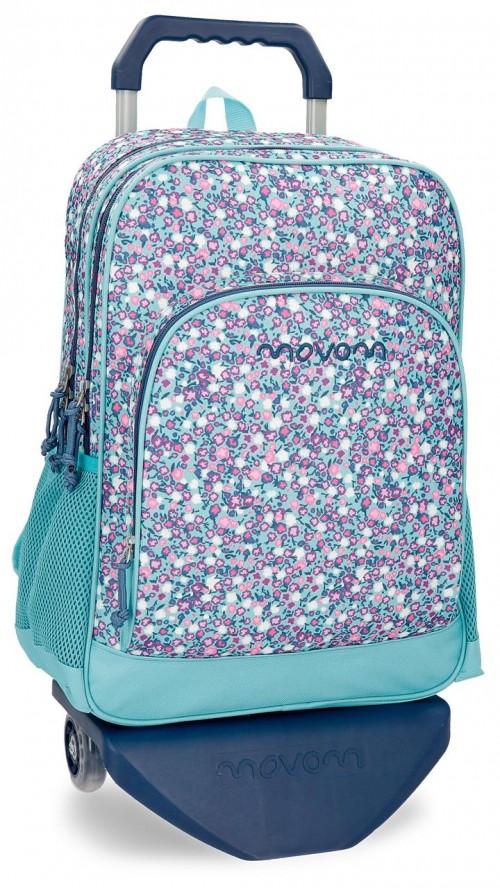 31724N1 mochila doble con carro movom nina azul